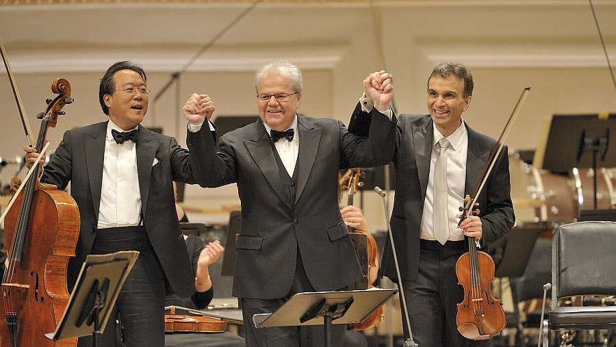 Alan Gilbert conducts Beethoven, Ellington, Dvořák, and Gershwin – With Emanuel Ax, Yo-Yo Ma, Gil Shaham, and Audra McDonald