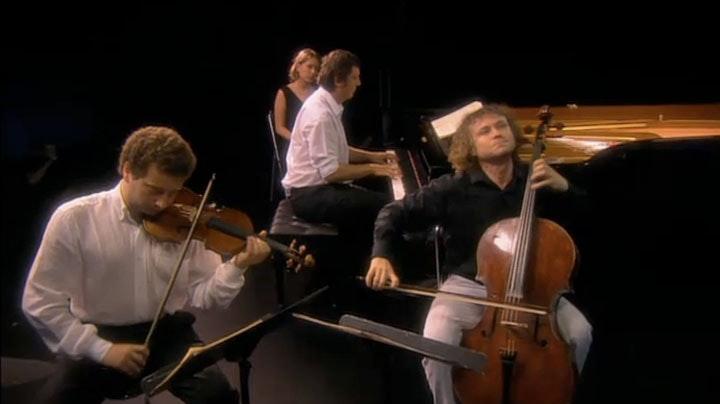 Boris Berezovsky, Dmitri Makhtin, Alexandre Kniazev play Tchaikovsky
