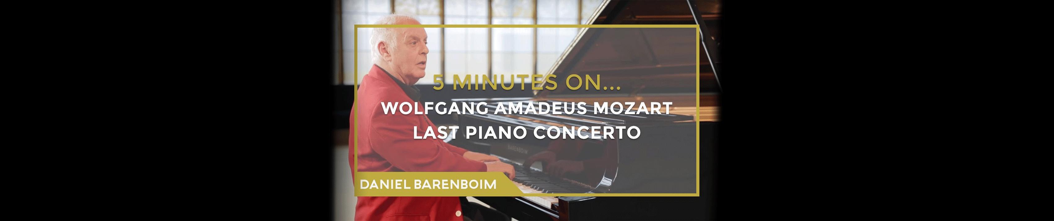 Daniel Barenboim, Mozart's Piano Concerto No. 27