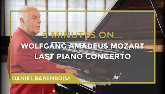 Daniel Barenboim, le Concerto pour piano n°27 de Mozart