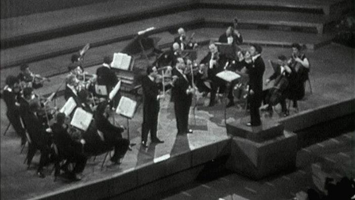 Igor and David Oistrakh perform Bach, Mozart and Brahms