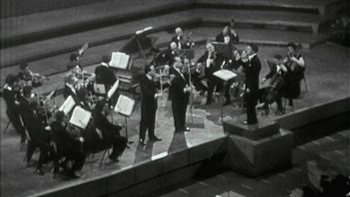 Igor and David Oistrakh perform Bach, Mozart and Brahms