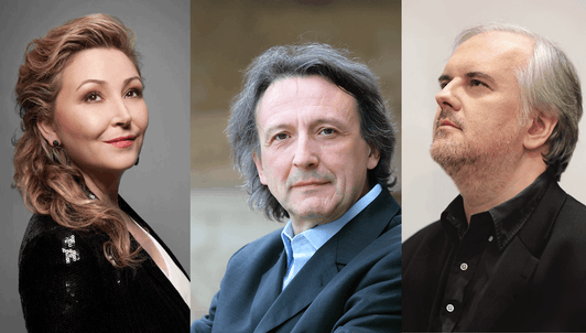 Gérard Caussé, Nicholas Angelich, and Karine Deshayes play Brahms and Shostakovich