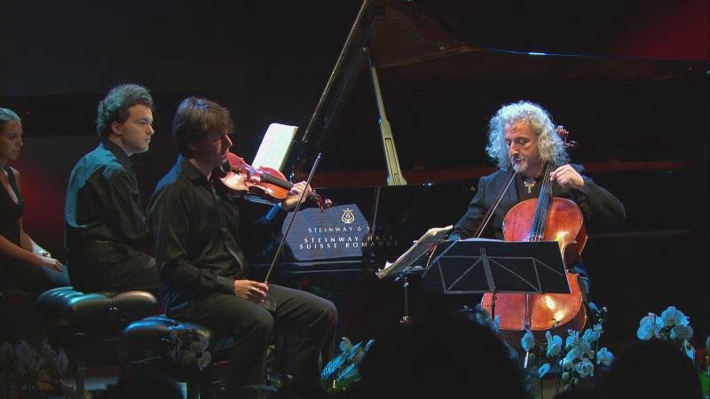 Joshua Bell, Mischa Maisky, Evgeny Kissin play Mendelssohn and Tchaikovsky trios