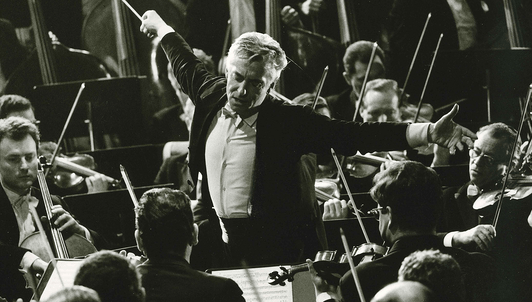 The Berliner Philharmoniker celebrates its 100th anniversary under the baton of Herbert von Karajan