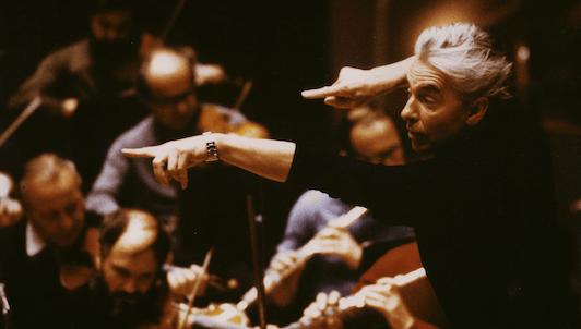 Herbert von Karajan dirige la Sinfonía Alpina de Strauss