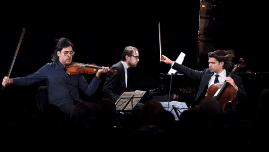 Leonidas Kavakos, Gautier Capuçon, and Daniil Trifonov perform Schumann, Rachmaninov, and Smetana