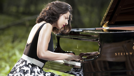 Khatia Buniatishvili in an intimate woodland recital