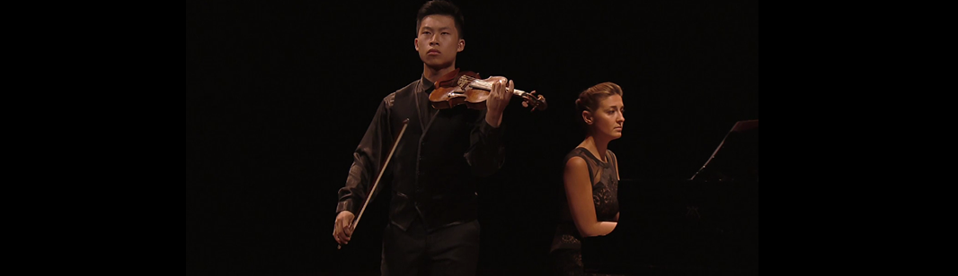 Kerson Leong and Christia Hudziy play Kreisler, Tartini, Dvořák, Brahms, and Paganini