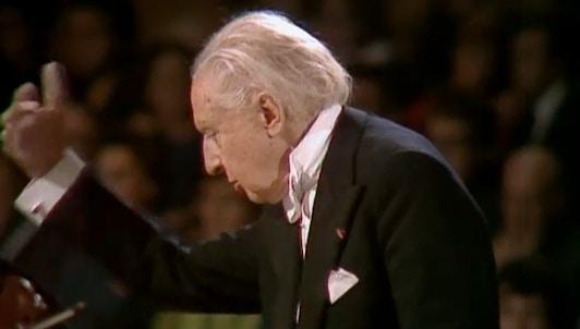 Leopold Stokowski dirige la Sinfonía «Inconclusa» de Schubert y obras de Wagner y Debussy