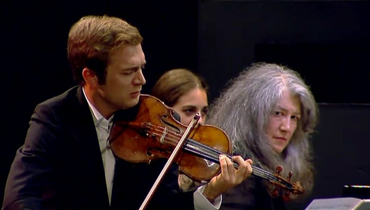 Martha Argerich, Nelson Freire, Renaud Capuçon play Bartók's sonatas