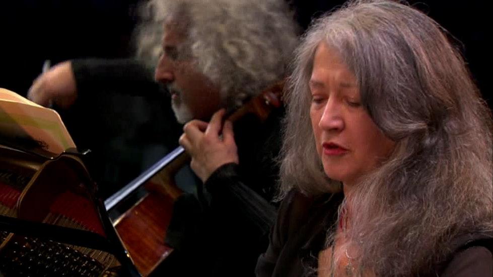 Martha Argerich, Stephen Kovacevich, Mischa Maisky play Bach, Mozart, and Grieg