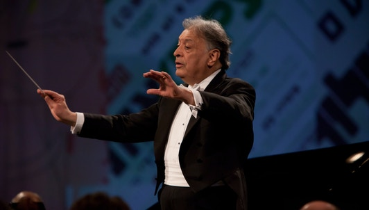 Zubin Mehta conducts Saint-Saëns, Chopin, Chausson, and Beethoven — With Julian Rachlin, Evgeny Kissin, and Vadim Repin