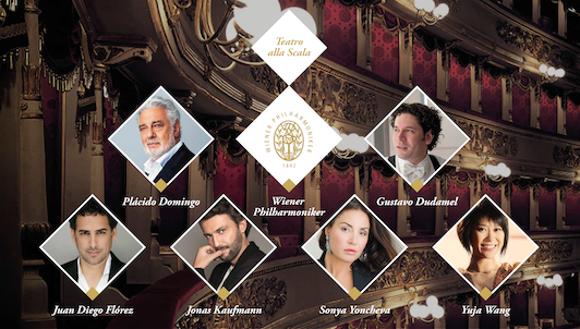 Plácido Domingo and Gustavo Dudamel conduct the Rolex Ambassadors Gala
