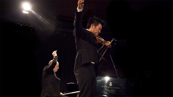 Ray Chen and Julien Quentin perform Mozart, Sarasate and Beethoven