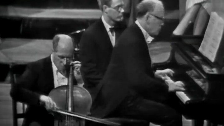 Mstislav Rostropovich and Sviatoslav Richter play Beethoven's Cello Sonatas No. 3 and No. 5