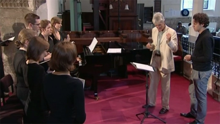 "Simon Carrington teaches Handel: Choruses from ""Messiah"""