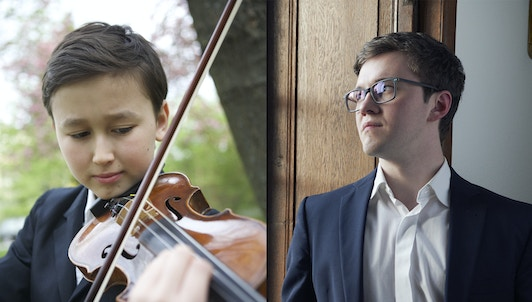 Daniel Lozakovich and Frank Dupree perform Bach, Mozart and Brahms
